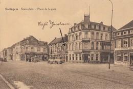 Postkaart-Carte Postale ZOTTEGEM Statieplein - Café Gustave (B225) - Zottegem