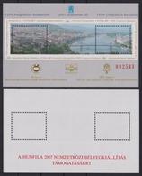Chain BRIDGE / Bridges - River Danube 2007 Hungary - HUNFILA FEPA Stamp Exhibition - Philatelist Memorial Sheet MNH - Brücken