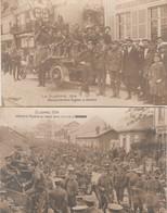 2 CPA GLACÉES:GUERRE 1914 MILITAIRE RAVITAILLEMENT ANGLAIS AMIENS (80) INFANTERIE ANGLAISE AU REPOS DANS UNE RUE - Amiens