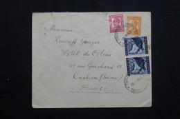BULGARIE - Enveloppe Pour Paris En 1938 , Affranchissement Plaisant  - L 61968 - 1909-45 Koninkrijk