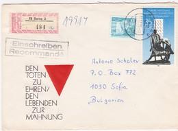 Germany – DDR /Bulgarien Einschreiben 1989 Mit R-Zetteln Aus 7200- Borna 3 - Covers & Documents