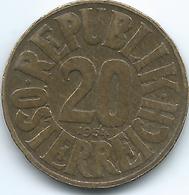 Austria - 1954 - 20 Groschen - KM2877 - Austria