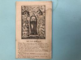 Penninckx Joannes Guillielmus Priester Orde Minderbroeder *1774 Mechelen +1844 Eerwaarde Pater Religieus - Décès
