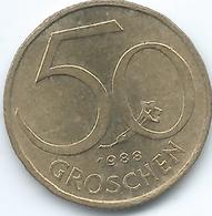 Austria - 50 Groschen - 1988 - KM2885 - Austria