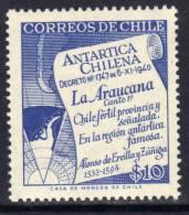 Polaire Chili N° 271 XX Antarctique Chilien : 10 P. Outremer Sans Charnière TB - Non Classificati