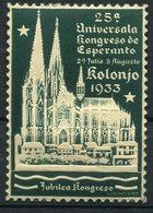 VIGNETTE **  DU 25a UNIVERSALA KONGRESO DE ESPERANTO 29 JULIO 5 AUGUSTO KOLONJO 1933 - Esperanto
