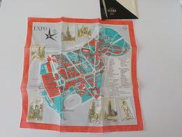 1958 Exposition Universelle Bruxelles Foulard Dans Pochette Expo 58 - Expositions