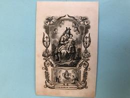 Doodsprentje Zwarte Druk Rare : Moens Jeannette Fille Michel *1823 +1841 Alost Aalst - Décès