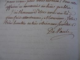 Lettre Du Maréchal Jourda De Vaux, 1777 - Autógrafos