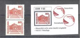 DDR  Michel # 3349 F 63  Abart - [6] Democratic Republic