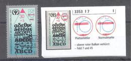 DDR  Michel # 3353 F 7  PF I - [6] Democratic Republic