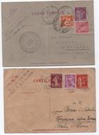 PAIX Entier Carte Postale Réponse Payée 40c ET 90c Complément Affranchissement Tarif UPU 1939  Italie Mercure Semeuse RR - Postal Stamped Stationery