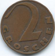 Austria - 1928 - 2 Groschen - KM2837 - Austria