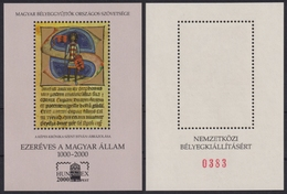 Chronicon Pictum INITIAL Book 2000 Millennium MABÉOSZ Federation Hungary Philatelists Commemorative St. Stephen KING - Commemorative Sheets