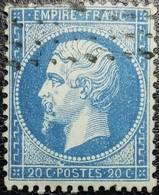 """N°22. Variété (Tâche Blanche """"cercle"""" Au-dessus Du P De Poste). Oblitéré Losange - 1862 Napoléon III"""