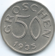 Austria - 1935 - 50 Groschen - KM2854 - Austria