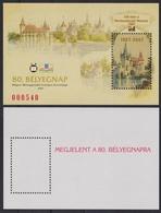 MUSEUM Agriculture Vajdahunyad Palace Castle Stamp Day 2007 MABÉOSZ Federation Hungary Philatelists Commemorative Sheet - Commemorative Sheets