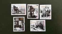 France Timbres  Oblitérés Ronds N° 3519 à 3523 Année 2002 - (Le Siècle Au Fil Du Timbre) - Francia
