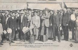 COGNAC ( 16 ) - Départ Du 4 Septembre  - Classe 1914 - Cognac