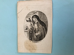 "Zuster Marie, Evenepoel Elizabeth Religieuse Arme Clarissen Coletinen Antwerpen *1813 Dworp +1861 Antwerpen ""S. Coleta"" - Décès"