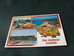 STORIA POSTALE MALTA CARTA GEOGRAFICA THE MALTESE ISLANDS  PULLMAN CORRIERA VEDUTE PIEGA ANG. - Malta