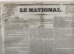 LE NATIONAL 31 03 1831 - RUSSIE POLOGNE - NAPLES - VARSOVIE - ESPAGNE - BELGIQUE - FLORENCE - VOSGES - Vitré - - Journaux - Quotidiens