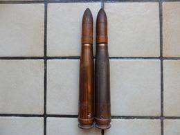 Lot De 2 Obus 20mm D Exercice  Armée Allemande Flack 1939 - Armes Neutralisées