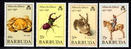 BARBUDA - 1971 ANIMALS DURER UNISSUED SET (4V) FINE MNH ** - Barbuda (...-1981)