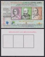 Joseph HAYDN Music Alps Adriatic 2010 Sopron Stamp Exhibition MABÉOSZ  Hungary Philatelists Commemorative Sheet - Commemorative Sheets
