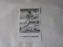 Athlétisme - Autographe - Carte Signée De  Jean-Claude Nallet - Athletics