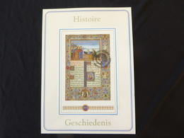 "BELG.1993 2494 (BL68) Filatelic Card : "" GESCHIEDENIS / HISTOIRE  "" - FDC"