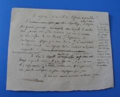 MANUSCRIT DE 1875 A DECHIFFRER - Manuscripts