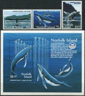 NORFOLK ISLAND 1995 Humpback Whale Conservation Whales Animals Fauna MNH - Balene