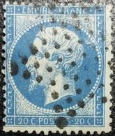 N°22. Variétés (Manque Point Dans Valeur). Oblitéré étoile De Paris Muette - 1862 Napoléon III