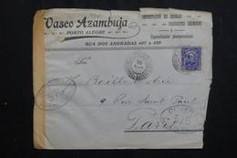 BRÉSIL - Enveloppe Commerciale De Porto Alegre Pour La France Avec Contrôle Postal - L 61989 - Briefe U. Dokumente