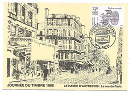 LE HAVRE 1988 Journée Du Timbre N° 2525 - Cartoline Maximum