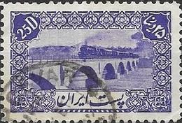 1942  Steam Train On Karj Bridge - 25d - Violet FU - Iran