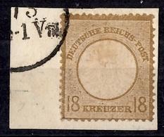Allemagne/Reich YT N° 25 Oblitéré Sur Fragment. A Saisir! - Oblitérés
