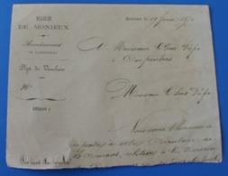 Manuscrit 1871 Commune Mairie De Monieux Pour Préfet Pons à Carpentras Trouvé Dans-Cahier D'école De Cécile De Bernardi - Manuscripts