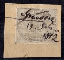 Allemagne/Reich YT N° 26 Oblitéré Plume Sur Fragment. Signé. B//TB. A Saisir! - Oblitérés