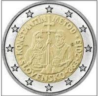 Slovakia 2 Euro 2013,1150e Anniversaire,l'arrivée De Constantin+Méthode En Grande Moravie Pour Diffuser Le Christianisme - Slovakia