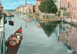 Cpsm -  Martigues -   Le   Canal , Le Pont  De Caront                  AC820 - Martigues
