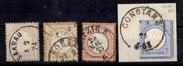 Allemagne/Reich YT N° 13, N° 18, N° 19 Et N° 23 Oblitérés. B//TB. A Saisir! - Oblitérés