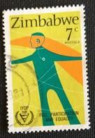 142. ZIMBABWE (7C) 1981 USED STAMP INTERNATIONAL YEAR OF DISABLED PERSONS - Zimbabwe (1980-...)