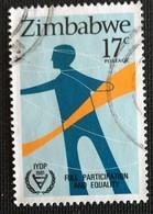 142. ZIMBABWE (17C) 1981 USED STAMP INTERNATIONAL YEAR OF DISABLED PERSONS - Zimbabwe (1980-...)
