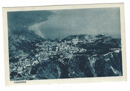 CL126 -  TAORMINA MESSINA VISTA AEREA CON POESIA D' ANNUNZIO 1930 CIRCA - Italia