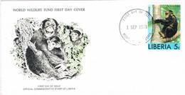 36663. Carta F.D.C. MONROVIA (Liberia) 1975. Chimpancé - Chimpancés