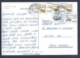 Obliteração De Santo António Das Areias, Marvão. Postal Castelo De Marvão. Tractor. Arado. Plow. Pflug. Trattore. Aratro - 1910-... République