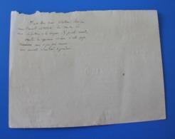 1875 Manuscrit  Trouvé Dans-Cahier D'école De Cécile De Bernardi - Manuscripts