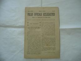 FOGLIO UFFICIALE ECCLESIASTICO DIOCESI DI MILANO N.3 1909 - Religion